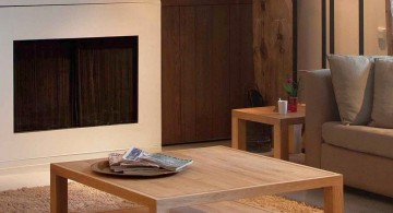 very simple open wood coffee table designs