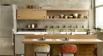 vintage and retro kitchen design with contemporary kitchen set