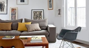 vintage living room ideas with swing chair