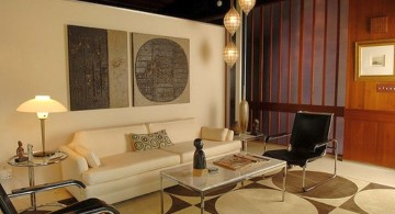 vintage living room ideas with unique wall decor