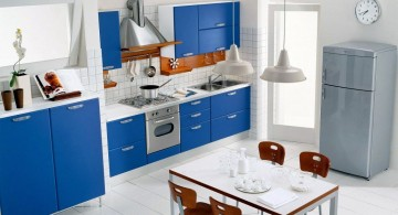 white and blue cabinet popular paint colors for kitchen