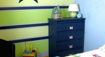 white and green stripes with blue line kids rooms paint ideas