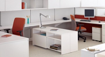 white minimalist office furniture