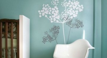 white tree on blue paint cool painting ideas for bedrooms