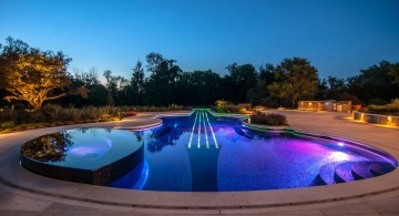 wide contemporary pool shapes and designs