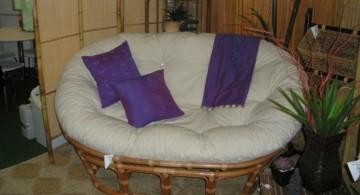 wide modern papasan chair