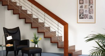 wooden stairs for small spaces