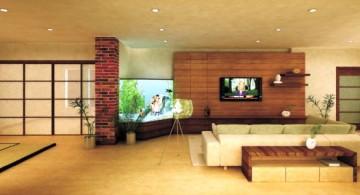 zen living room ideas for spacious houses