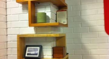 zig zag frame corner shelf designs