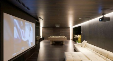 Agalarov Estate media area in game room