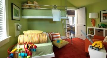 Boys room color in green