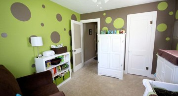 Boys room color in green and grey