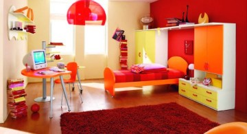 Boys room color in red and orange