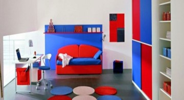 Boys room color in trio of colors