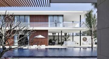 Chenglu Villa house nine side pool view