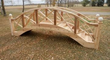 DIY garden bridge with detail works on railings