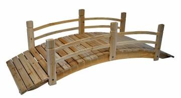 DIY garden bridge with halfway railings
