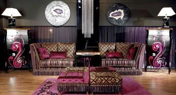 Dark Morrocan pattern on Italian Sofa Brands