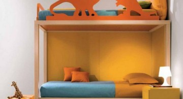 Dinosaur themed bedroom with bunk beds