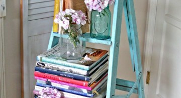 Display ladder in blue