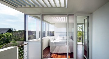 Fire Island Beach House bedroom and balcony