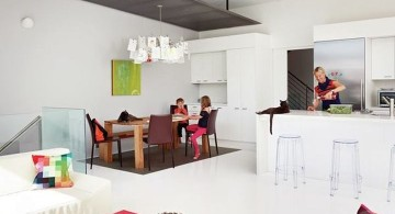 Flip House kitchen and dining area