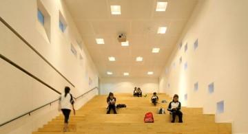 Garden School Beijing tiered hallway