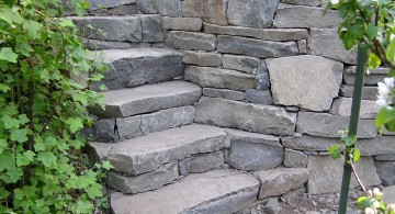 Garden stairs short and small stone path