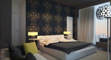 Gothic bedrooms with glass wall