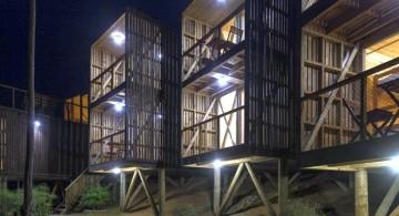Hostal Ritoque Chile at night