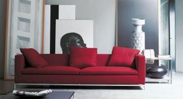 Italian Sofa Brands flame red