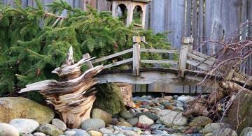 Japanese garden DIY garden bridge