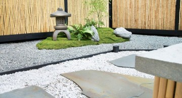 Japanese landscape design for a corner