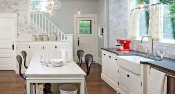 Kitchen island pendant lighting ideas clear glass retro