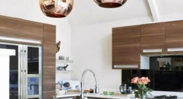Kitchen island pendant lighting ideas retro gold ball