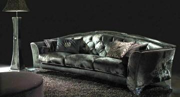 Luxury black velvet Italian Sofa Brands