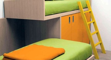 Modern Bunkbed in green and orange