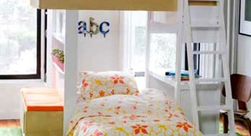Modern Bunkbed with flower bedding
