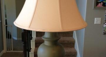 Rosette lamp shade in earth tones