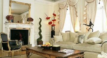 Tuscan living room decor in white