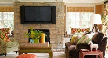 Tuscan living room decor with low ceiling