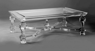 acrylic cocktail table with classy legs