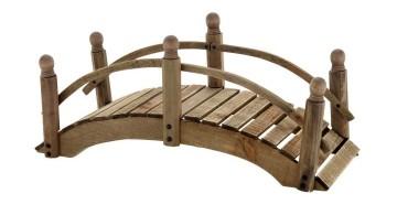 arched DIY garden bridge