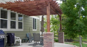attached to the house modern pergola kit