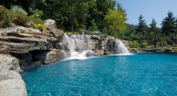 awesome pool waterfall ideas
