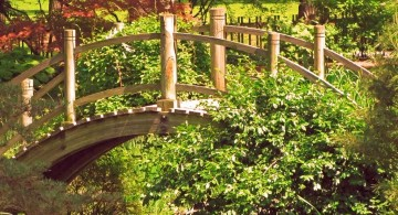 beautiful Japanese garden bridge plans