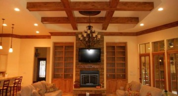 beautiful ceilings drop ceiling with exposed beams accent