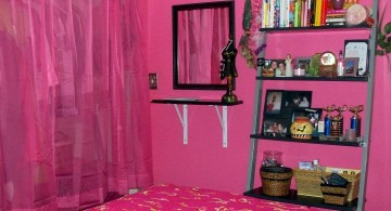 bold hot pink room for small rooms