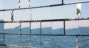 breathbox seaside mirror facing the sea