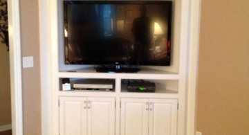 built in TV in the corner